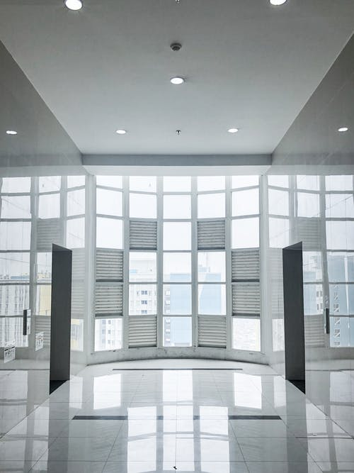 White and Black Building Interior