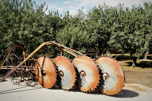 Free stock photo of vintage farming equipment, vintage tilling