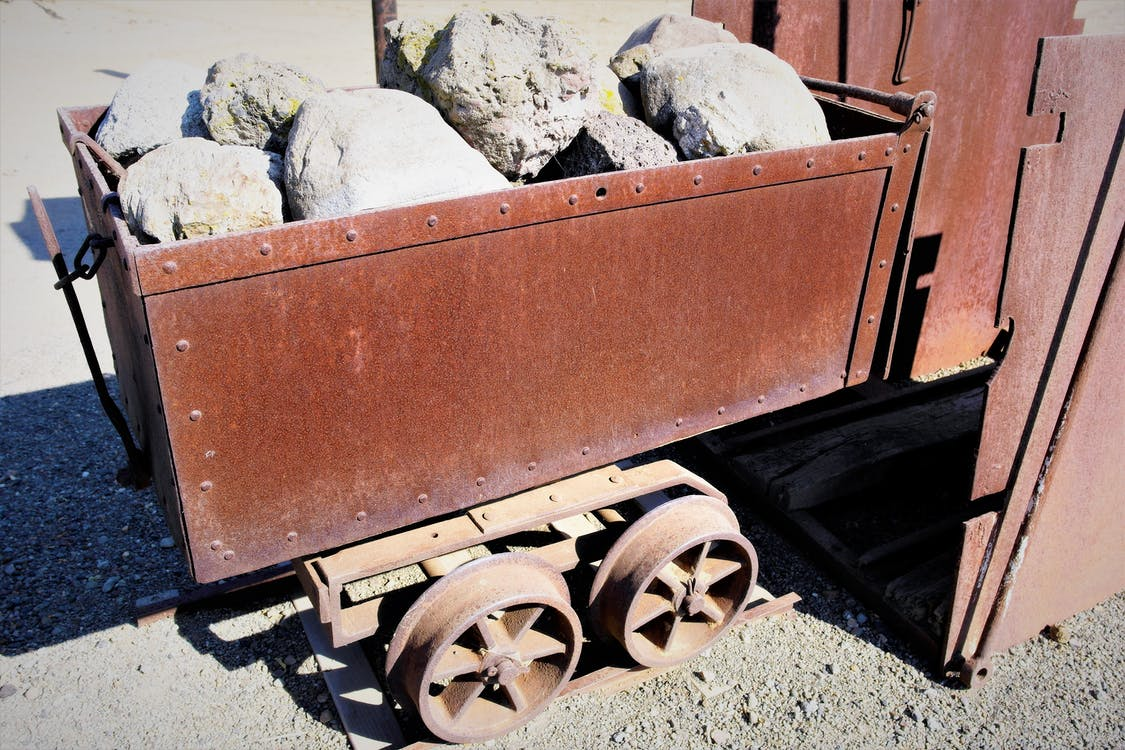Free stock photo of gold mining, gold rush, mining cart