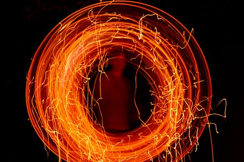 Free stock photo of abstract photo, fire ring, long exposure, sparkle