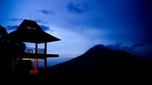 Free stock photo of mountain, sunset