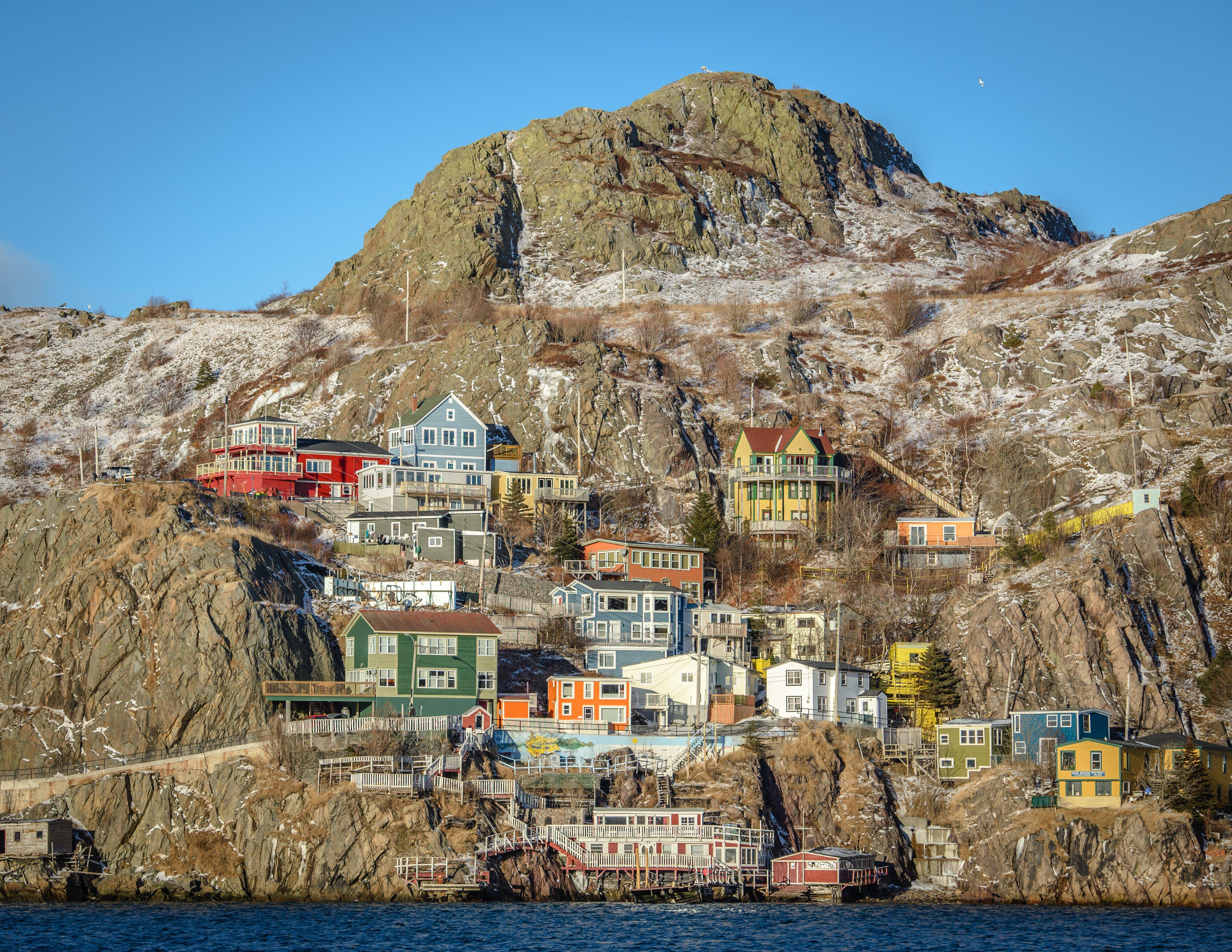 Free stock photo of battery, newfoundland, st. john's, colorful houses