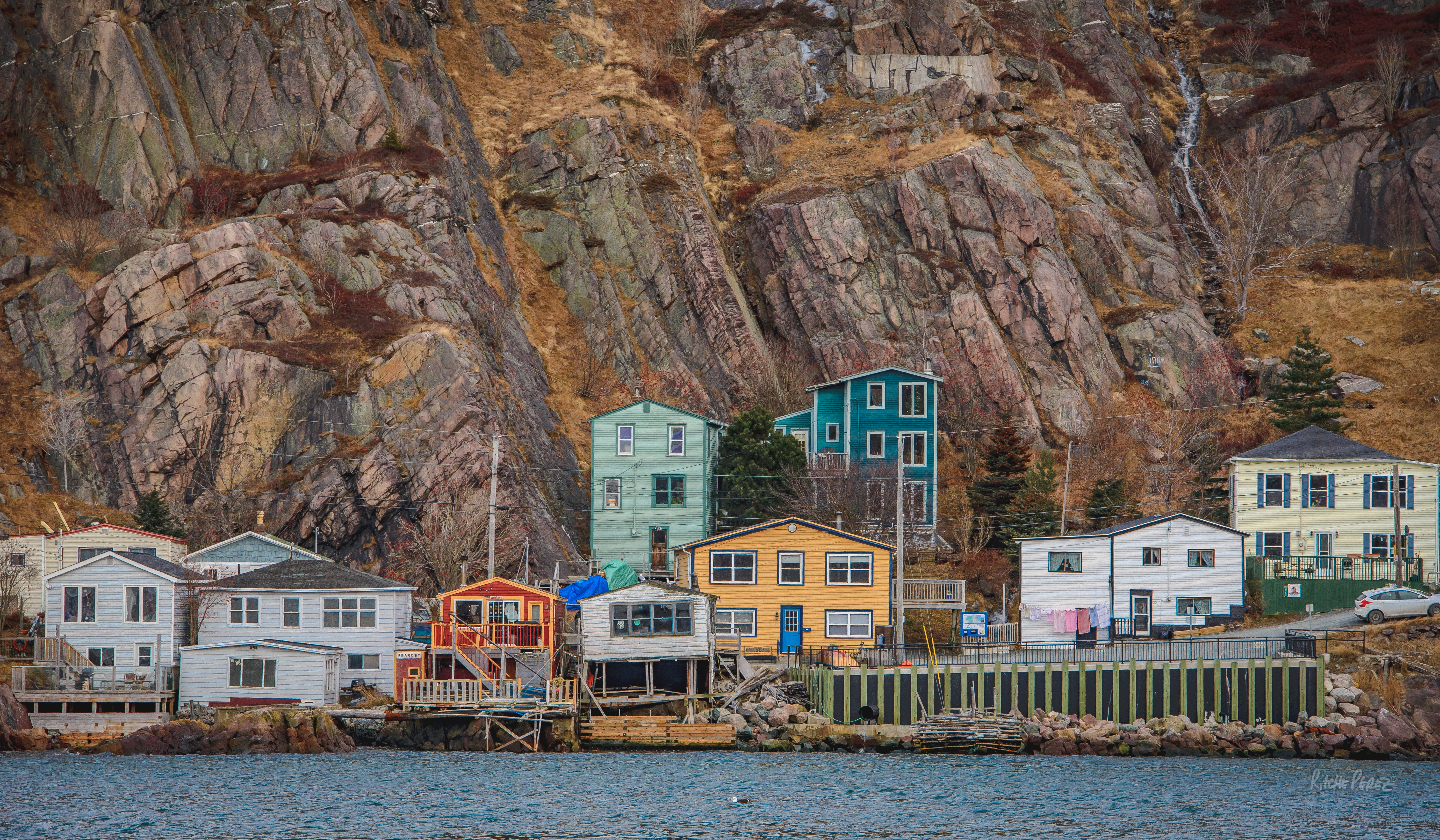 free stock photo of battery  colorful houses  newfoundland