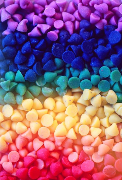 Foto profissional grátis de abundância, açúcar, arco-íris, arredondar
