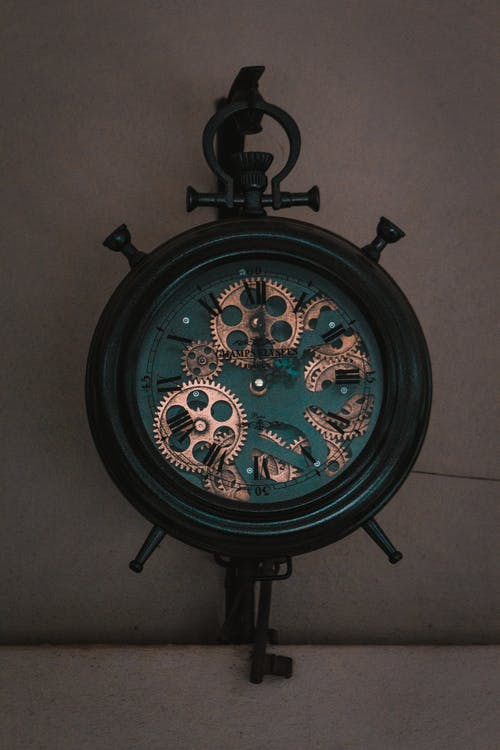Black and Green Analog Clock