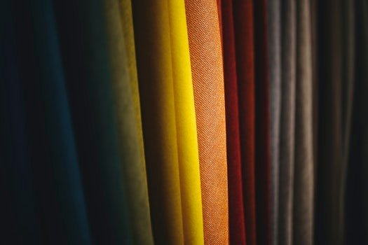 Colorful fabrics