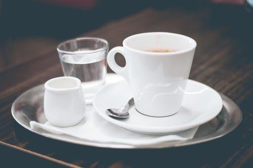คลังภาพถ่ายฟรี ของ utencils, กาแฟ, น้ำ, เอสเพรสโซ