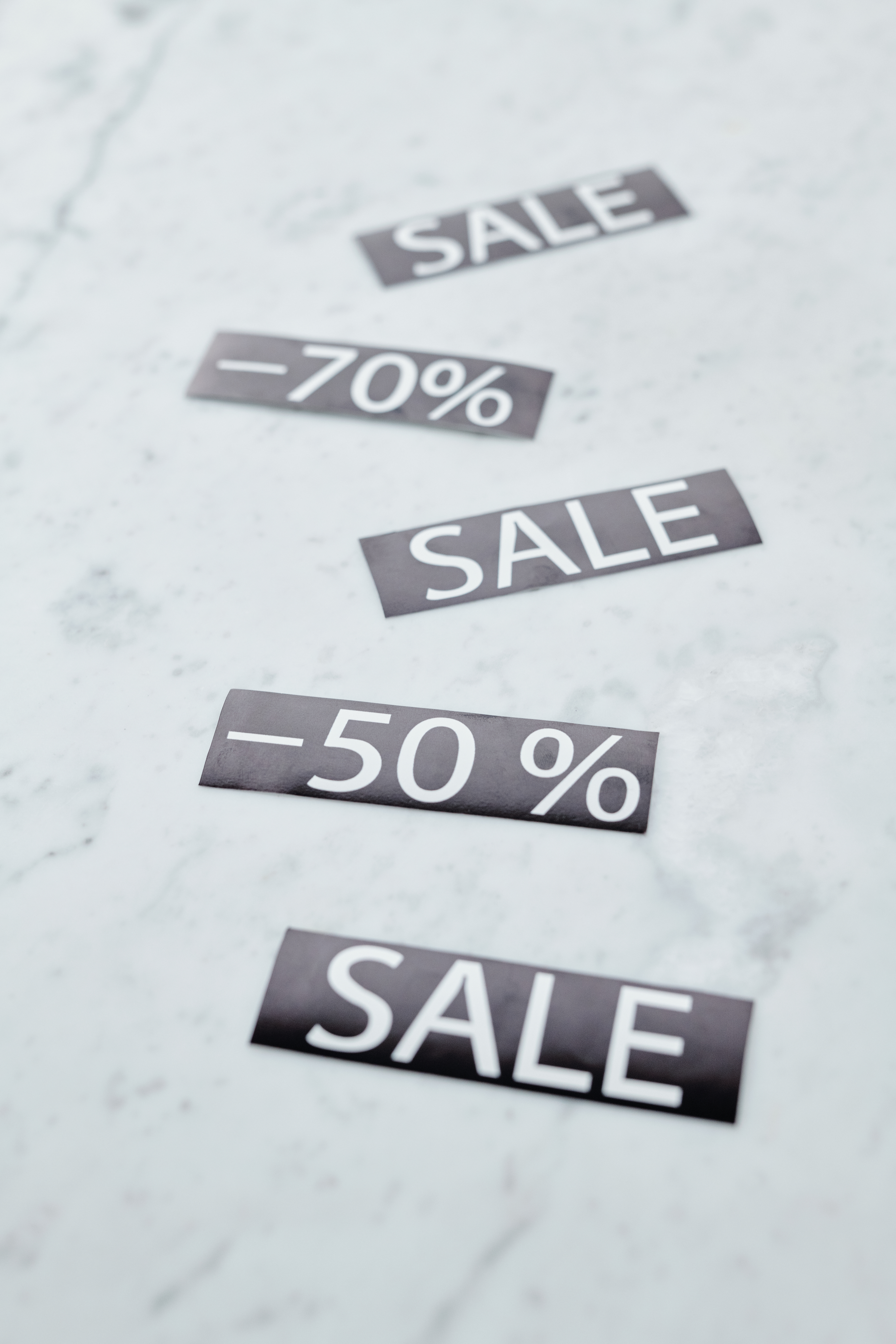 discount percentages and sale sign