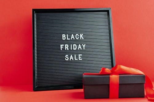 Black Friday Sale Text on Black Background