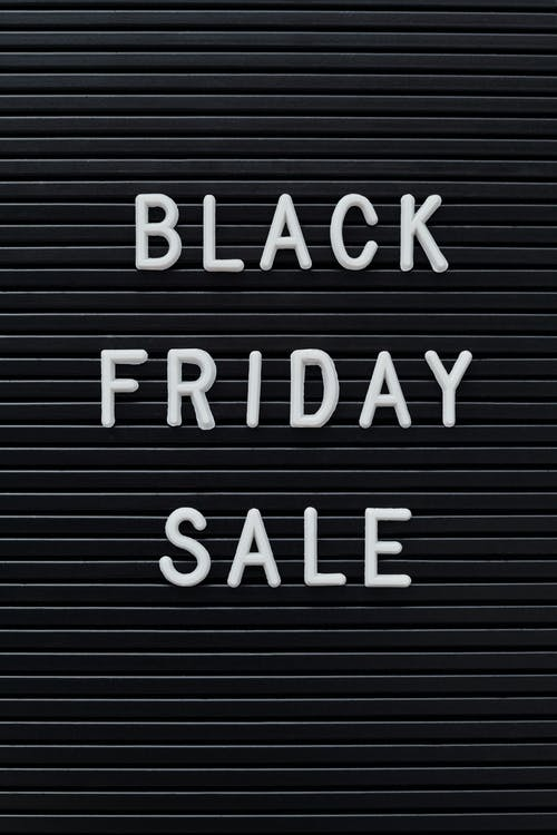 Black Friday Sale Text on Black Background