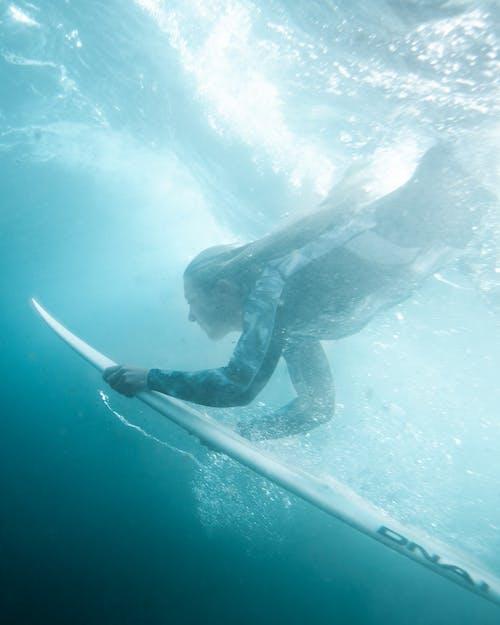 Man in Black Wetsuit in Water