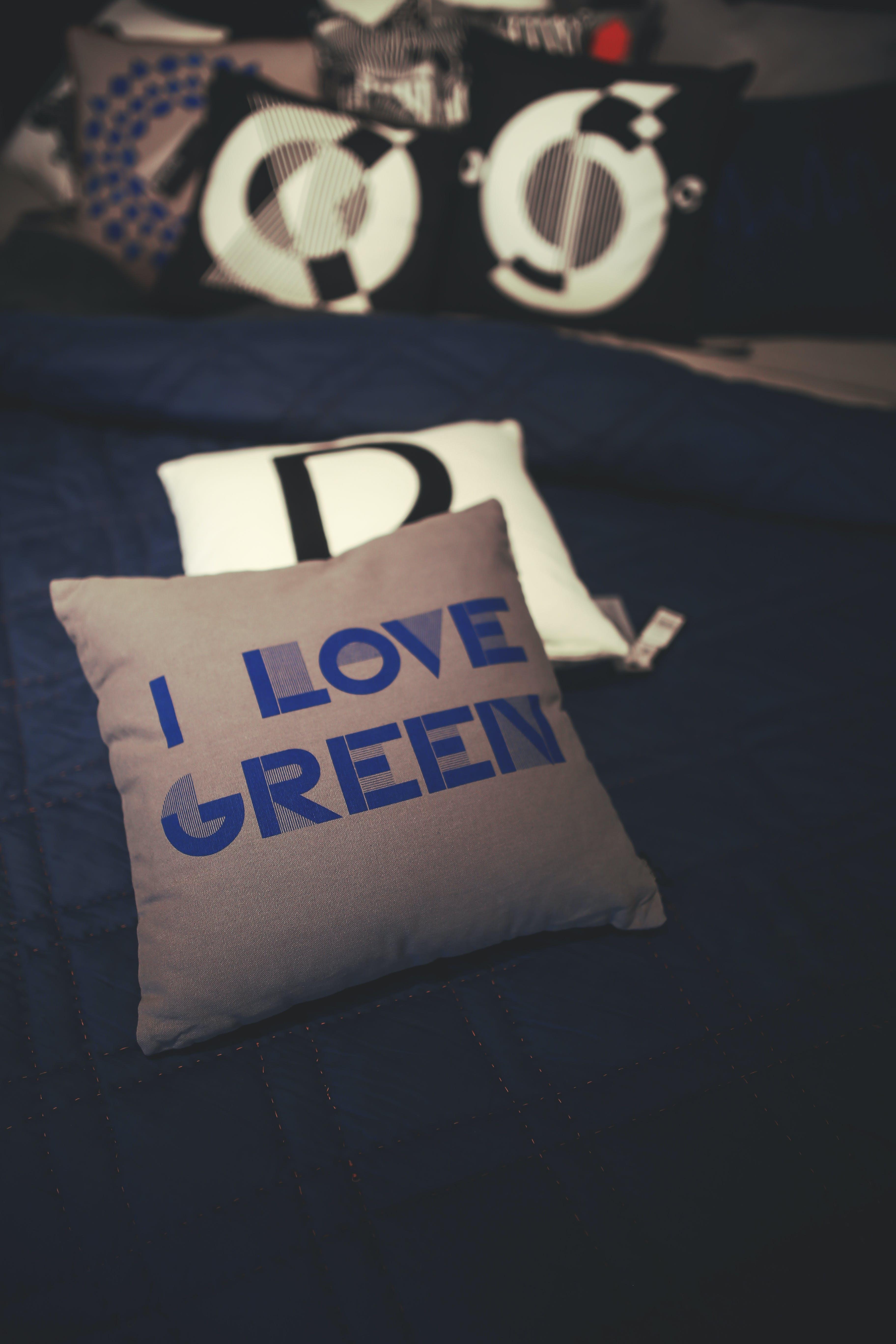 I love green pillow