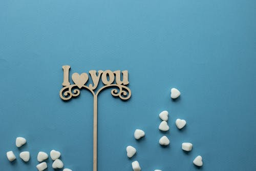 Love message on topper for decoration