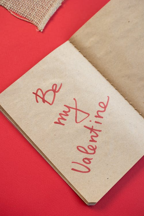 Notepad with inscription on craft sheet