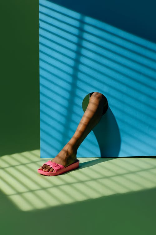 Person in Pink Flip Flops