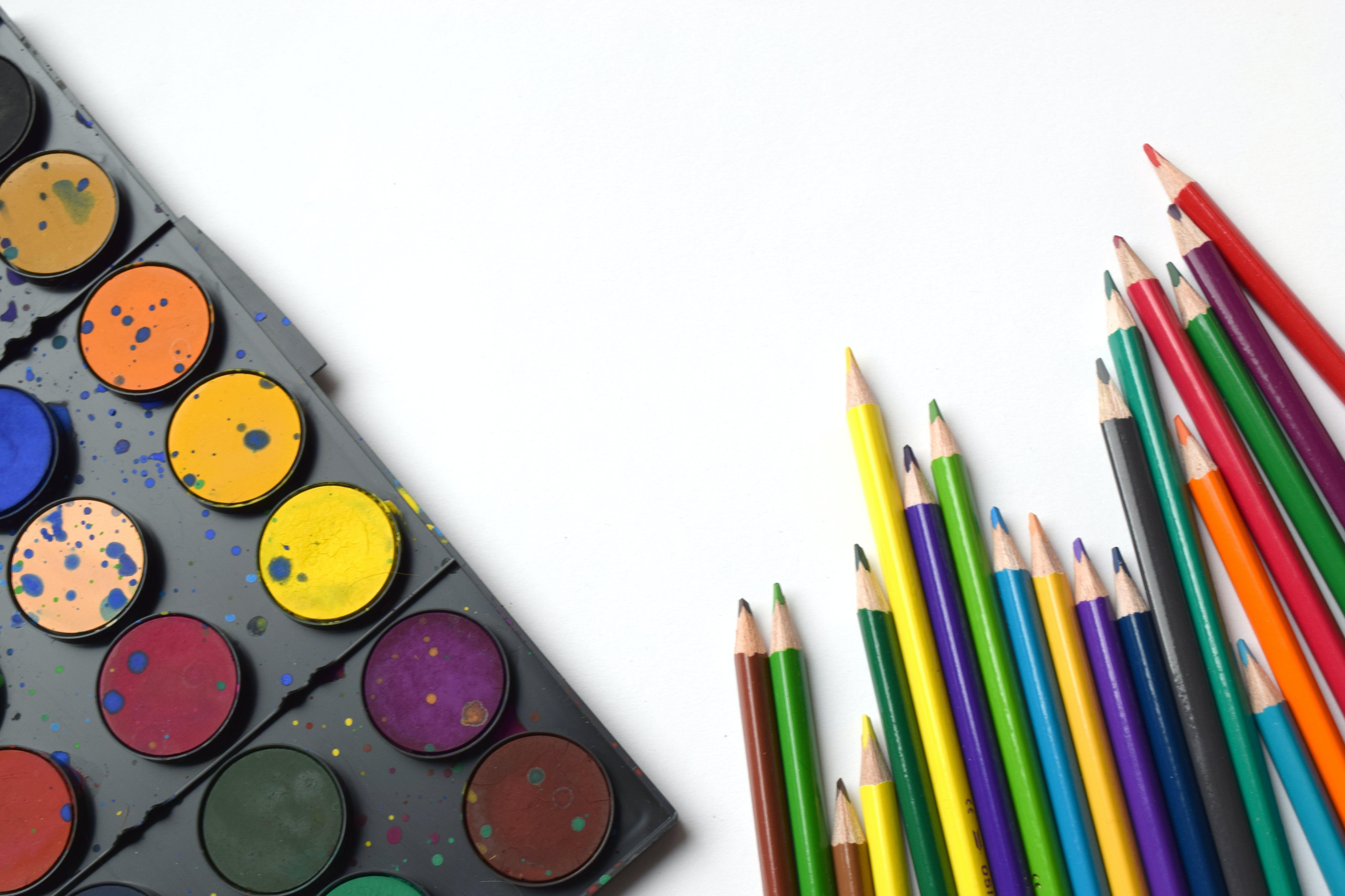 Free stock photo of activity, aquarelle, art, art supplies