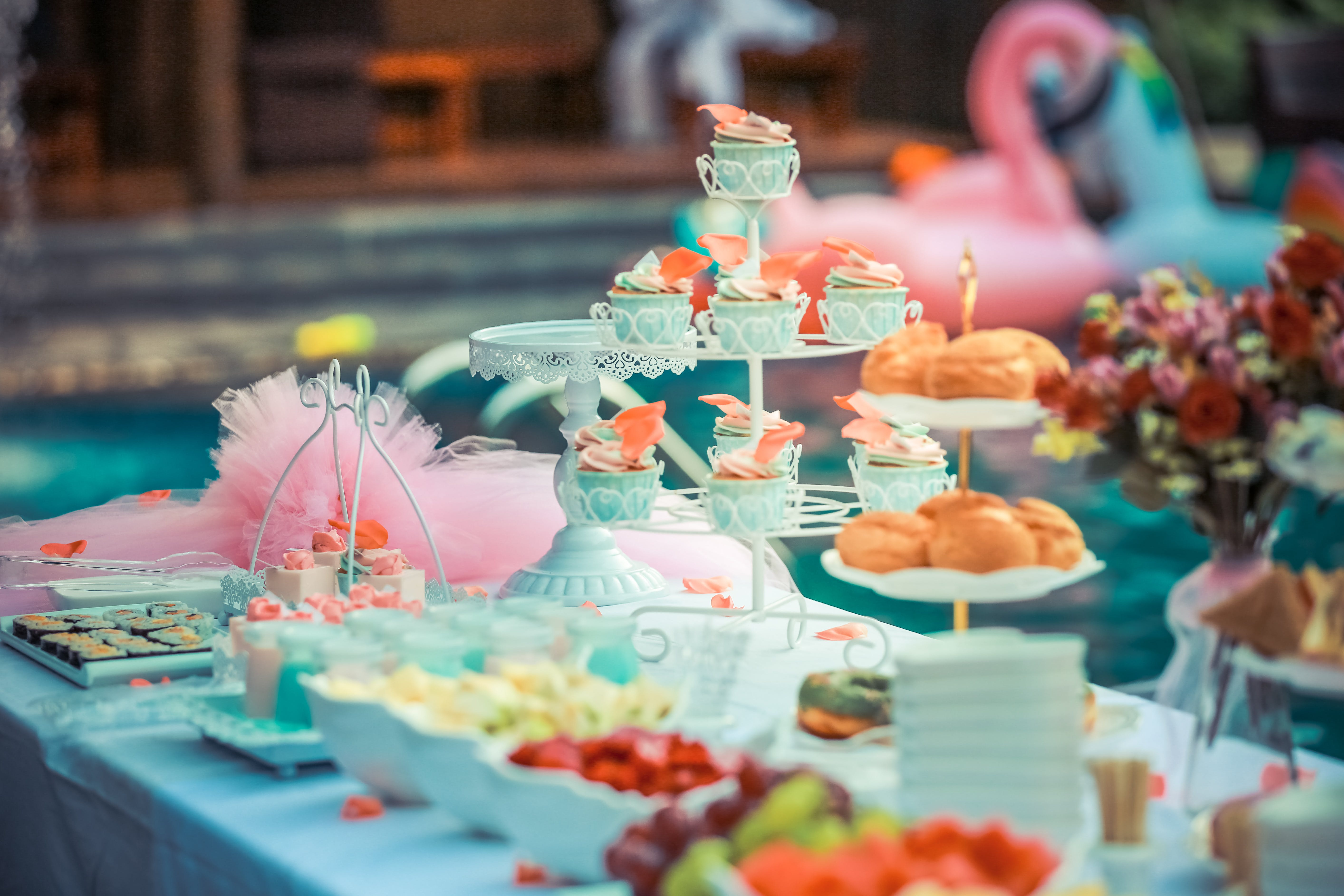 Cupcakes Display on Cupcake Rack