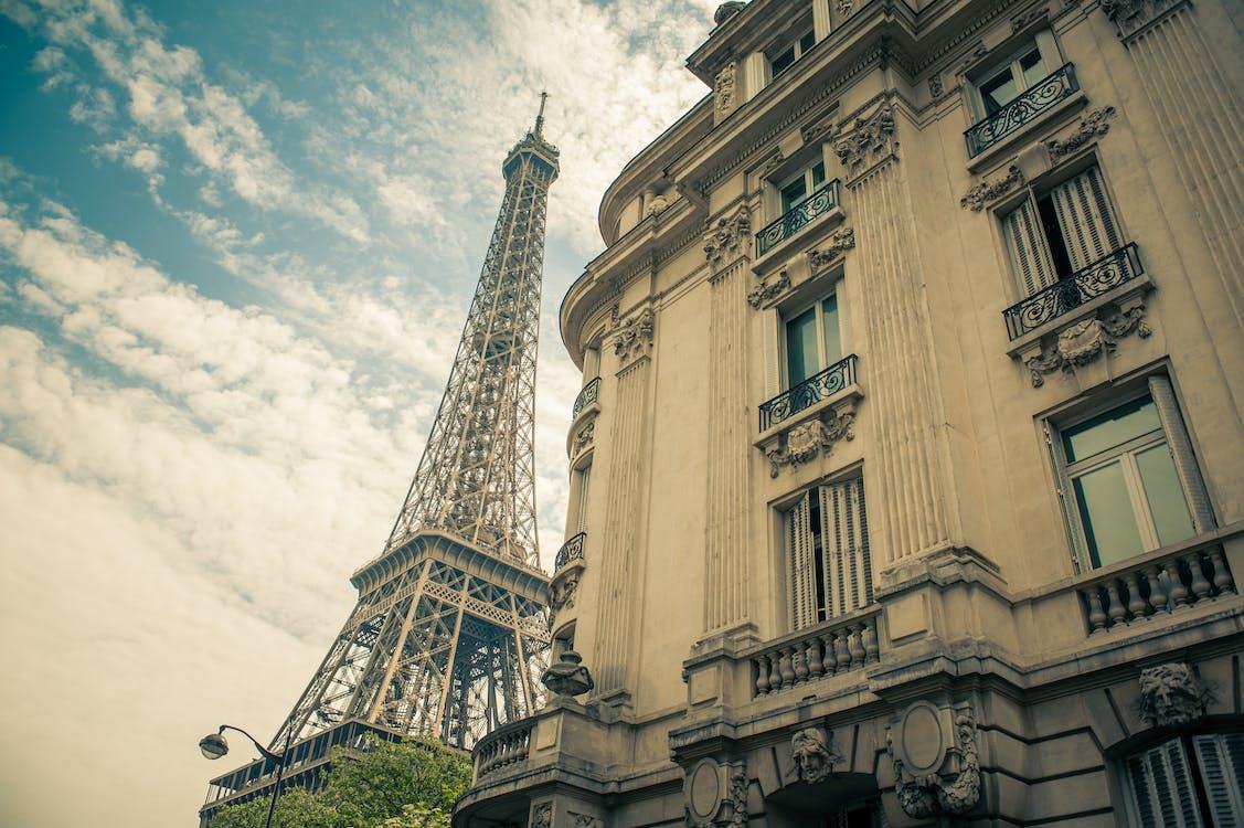 alto, arquitectura, cielo