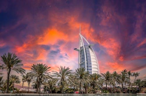 Foto profissional grátis de Burj Al Arab, céu, dubai