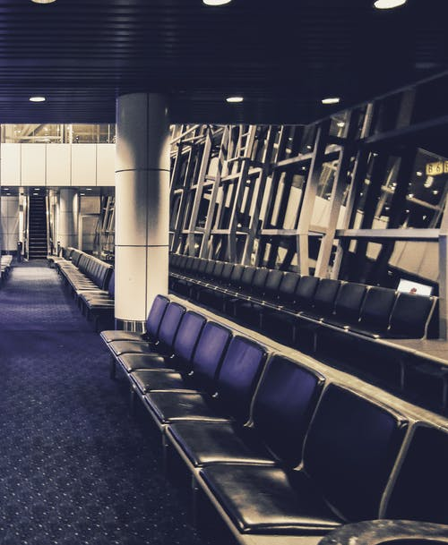 คลังภาพถ่ายฟรี ของ ที่นั่งรอ, ม้านั่ง, สนามบิน