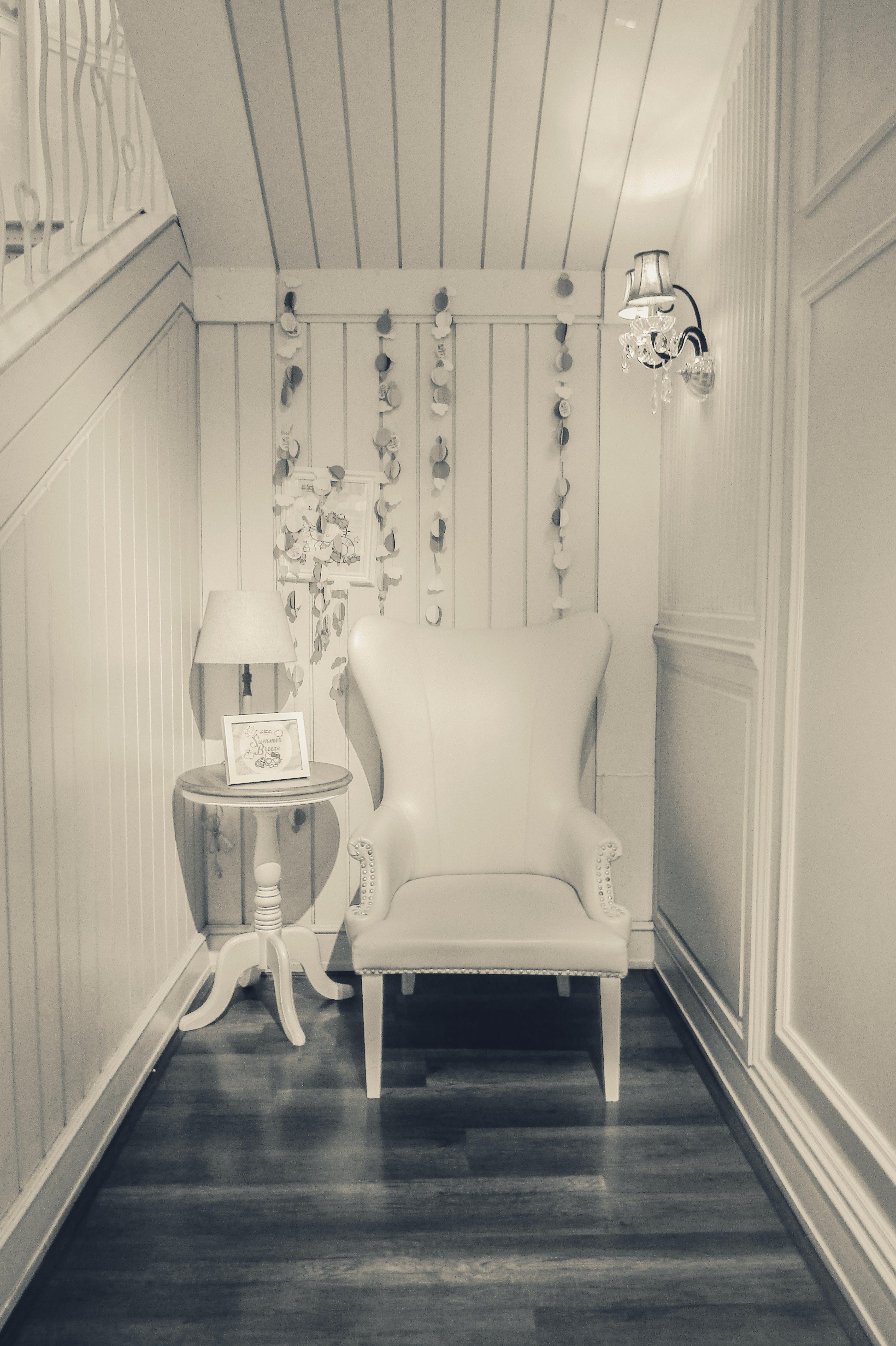 Free stock photo of armchair, vintage, white
