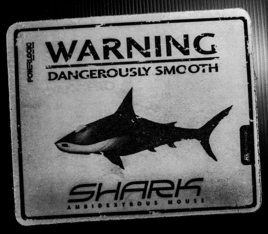 ασπρόμαυρο, καρχαρίας, μαύρο και άσπρο