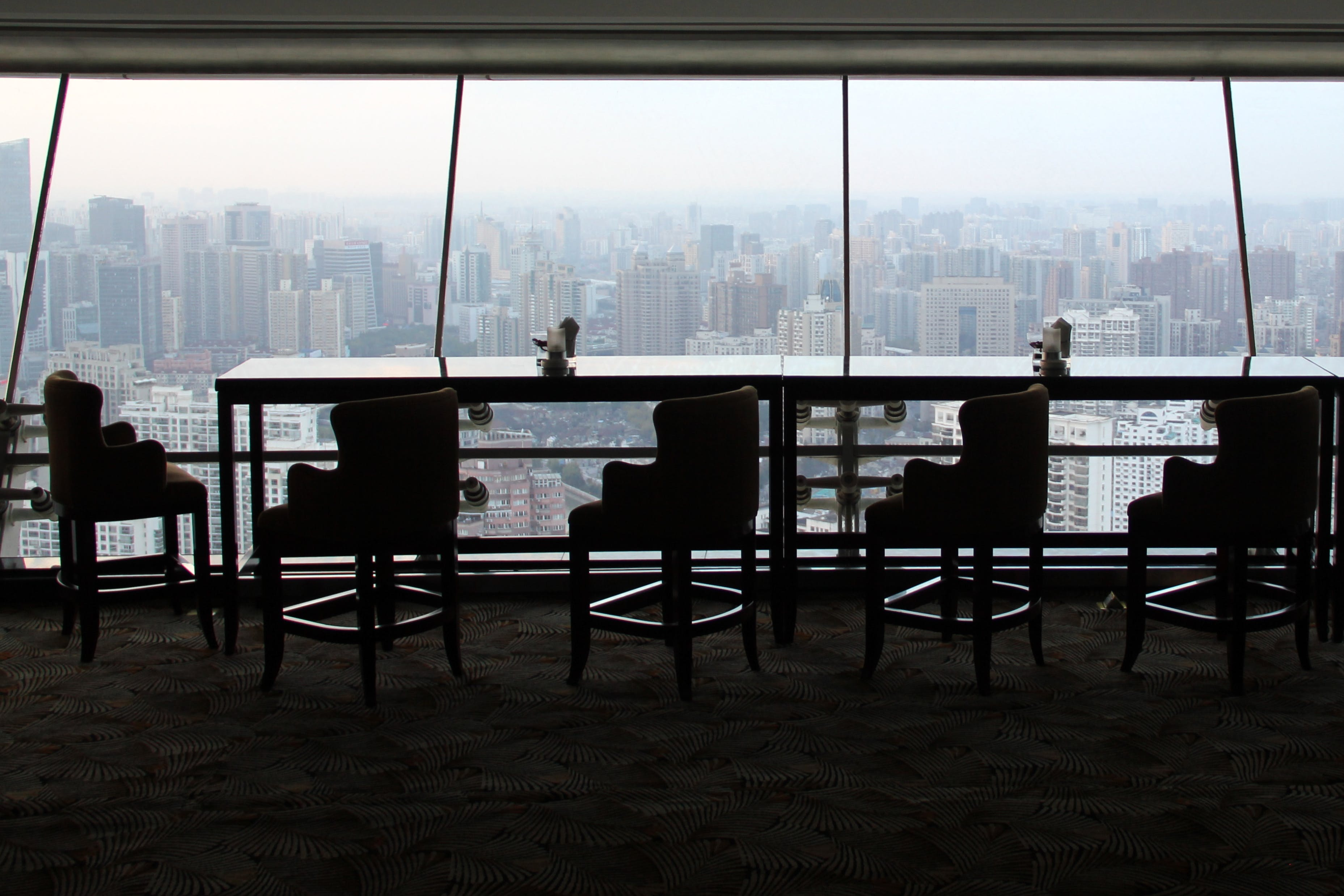Chairs and Table Inside Building