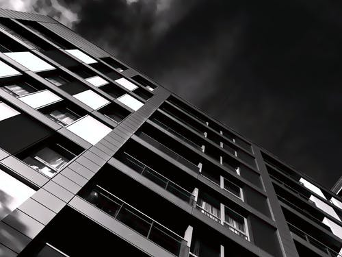 Worm's-eye View Building