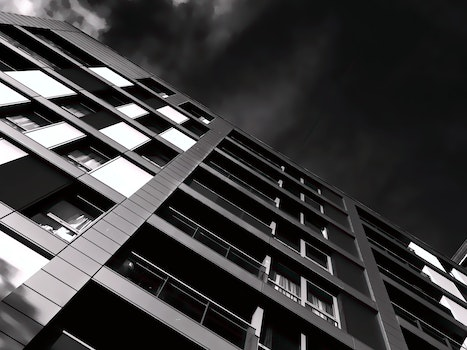 Free stock photo of black-and-white, building, architecture, window