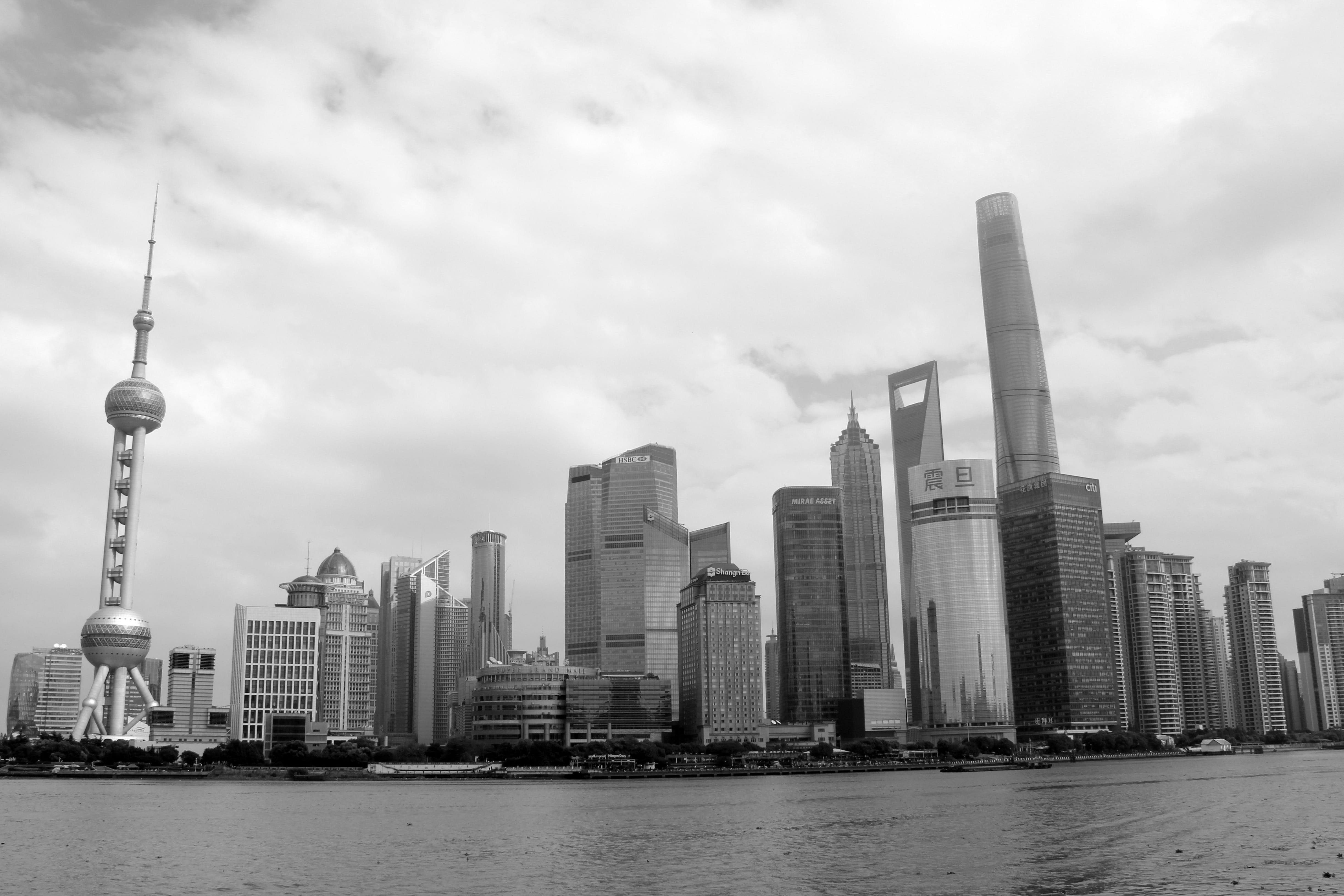 asia, black-and-white, buildings
