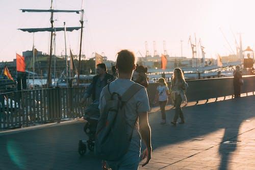 Immagine gratuita di alba, amburgo, barche