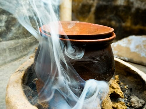 Free stock photo of artistic, carbon, clay pot, cooking