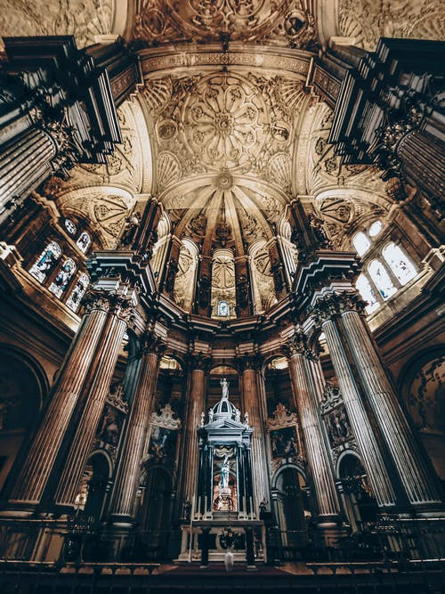 Majestic cathedral dome in Gothic style
