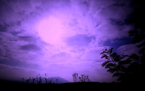 Free stock photo of cielo, color, Morado, sky