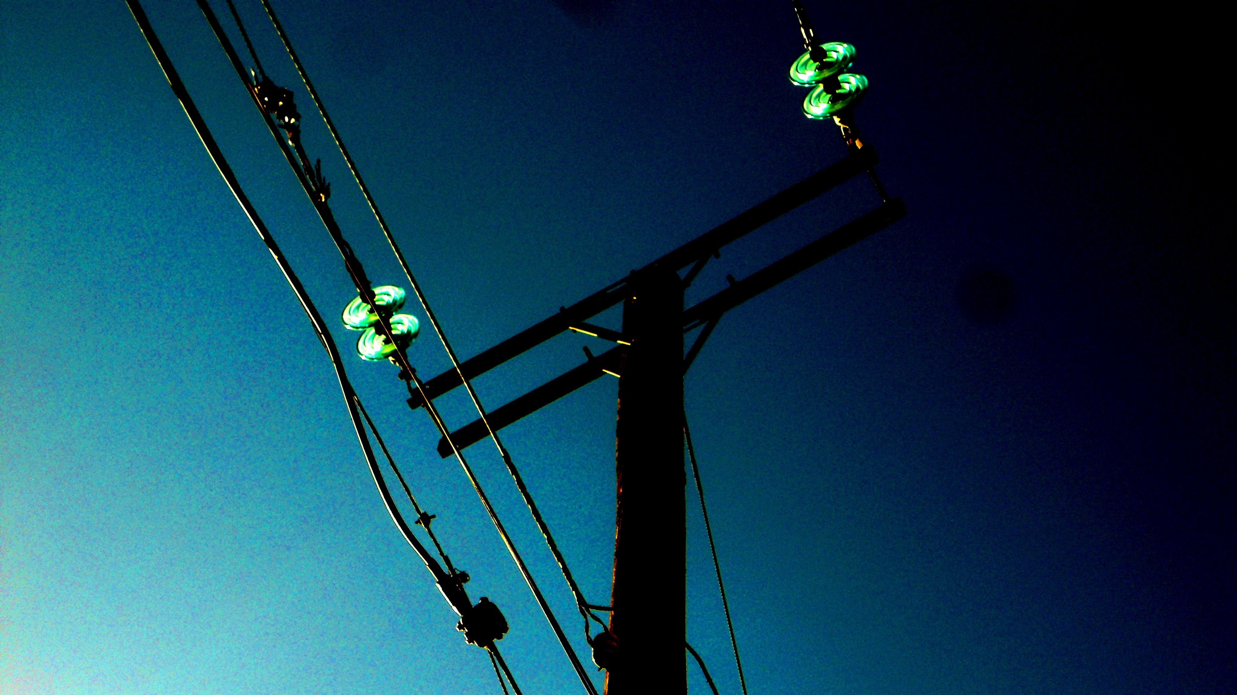 Free stock photo of Electricidad, energia, poste