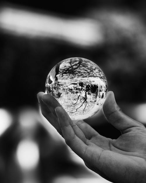 bokeh, en az, Kristal küre, minimal içeren Ücretsiz stok fotoğraf
