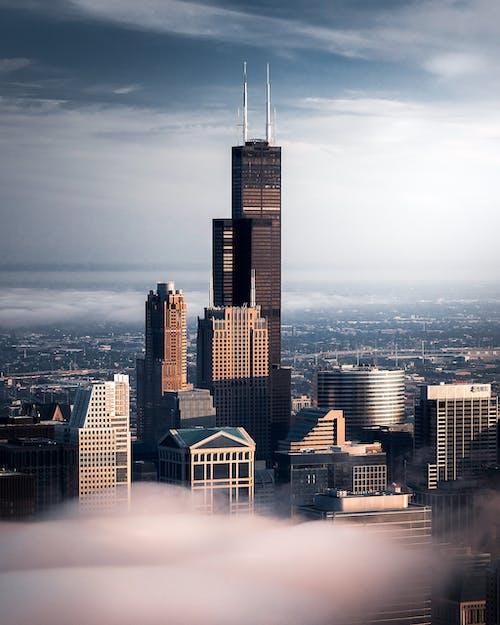 Бесплатное стоковое фото с архитектура, башня, бизнес, высокий