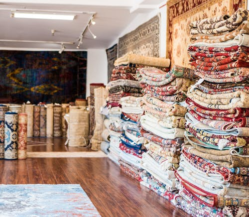 Free stock photo of rugs, store