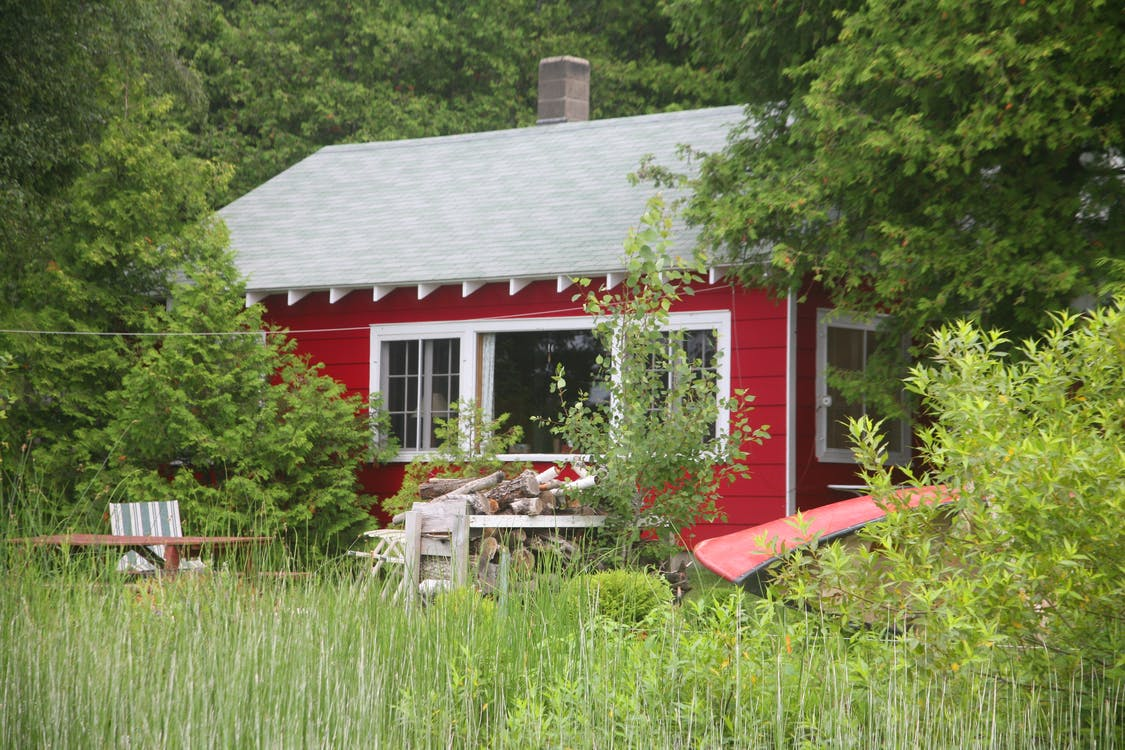 Free stock photo of red, red house