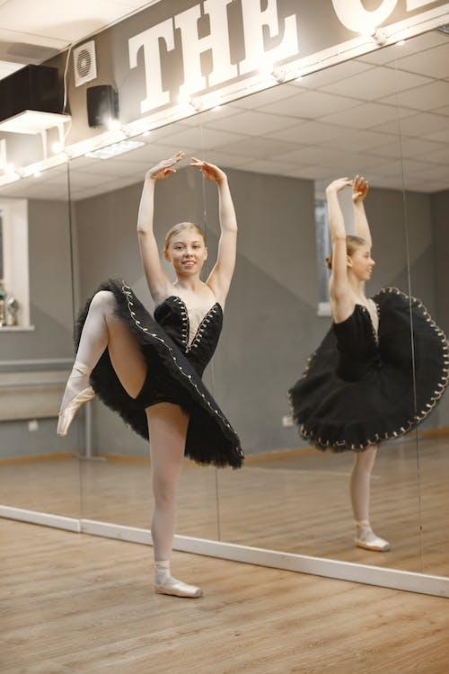 Young Woman Dancing Ballet