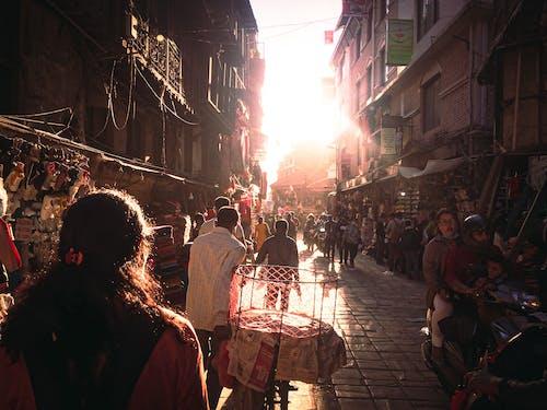Free stock photo of alleys, alleys of kathmandu, beautiful sunset