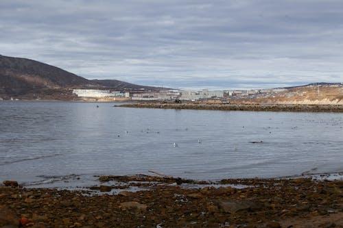 Rocky coast of calm sea