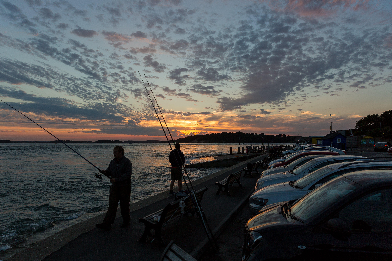 Free stock photo of clouds, coast, coastal sunset, fisherman