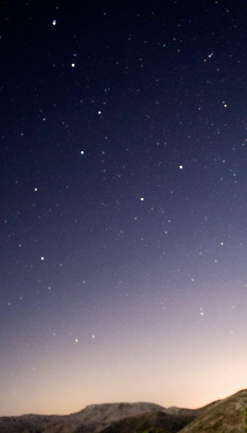 明星, 晚上 的 免费素材照片