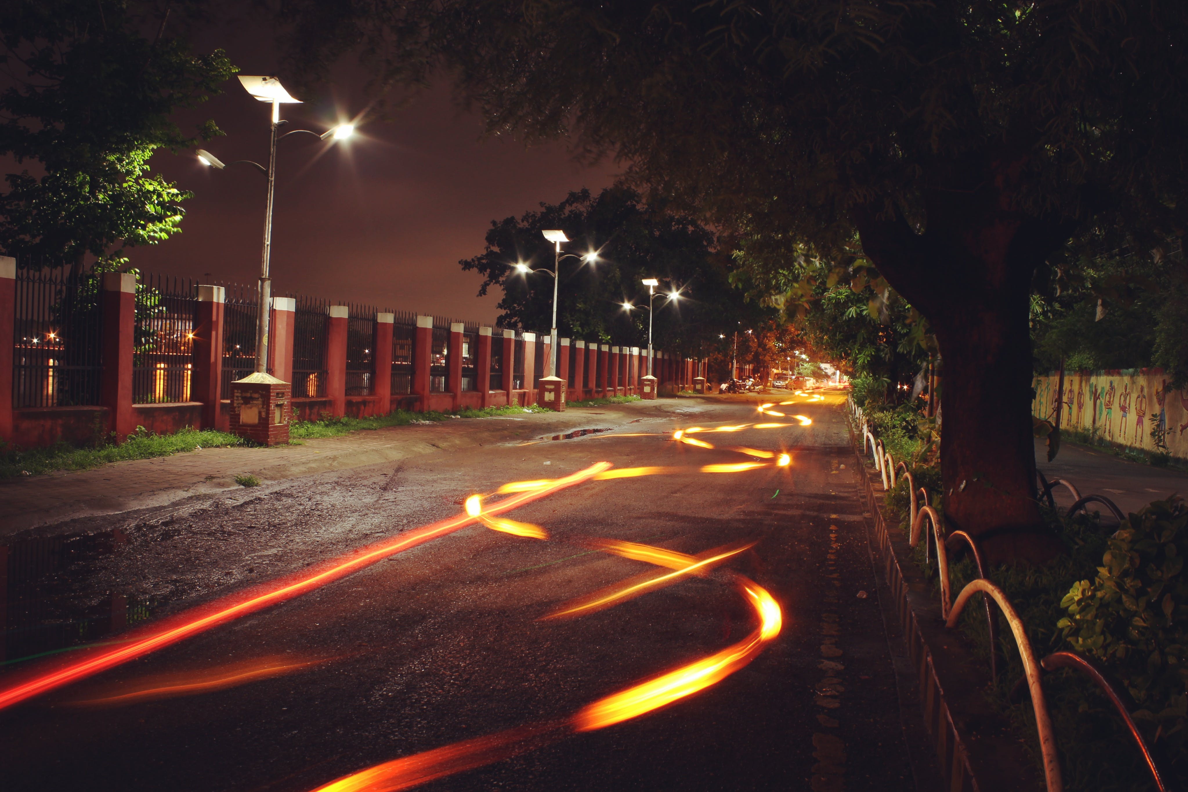 Free stock photo of #road #light #trails #night #photography #canon