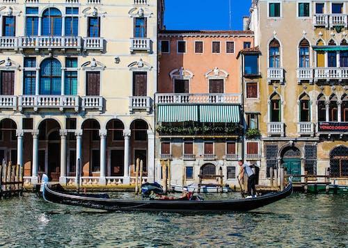 Renk paleti, sakin sular, sokak, tekne içeren Ücretsiz stok fotoğraf