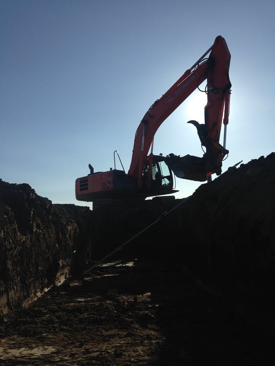 挖土機, 鋤頭