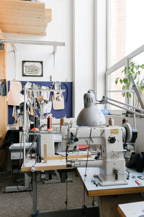 Industrial Sewing Machines on the Table