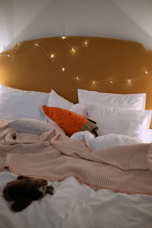 White Pillows on the Cozy Bed