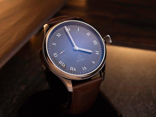 Close Up Shot of an Elegant Analog Wristwatch